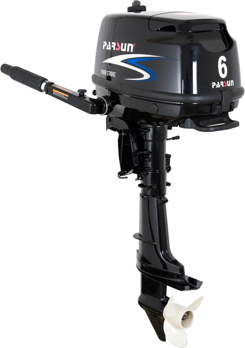 Silnik zaburtowy Parsun 6 HP - rodzaj kolumny: krótka, sterowanie trymu: manualne, rumpel, rozruch: manualny
