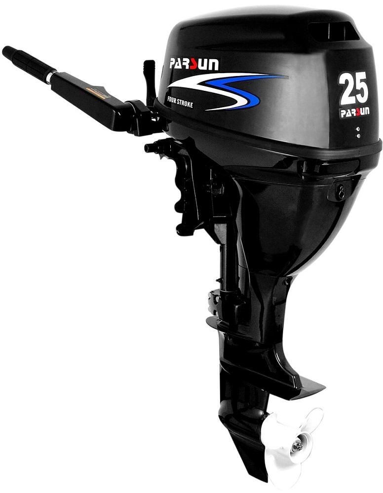 Silnik zaburtowy Parsun 25 HP - rodzaj kolumny: krótka, sterowanie trymu: manualne, rumpel, rozruch: manualny