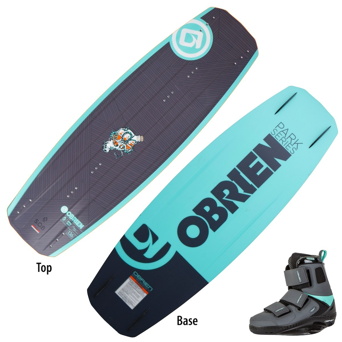 Komplet wakeboard Obrien SOB + GTX  (wakepark)