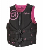 Kamizelka neoprenowa damska Obrien  black/pink vest