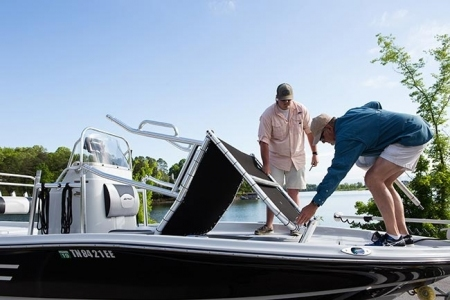 Zadaszenie do łodzi wędkarskiej - Fishmaster Original universal T-top silver